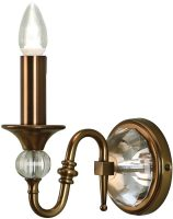 Polina Antique Brass Single Classic Wall Light