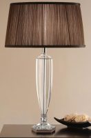 Hemmingway Art Deco Style Crystal Urn Table Lamp Base Only