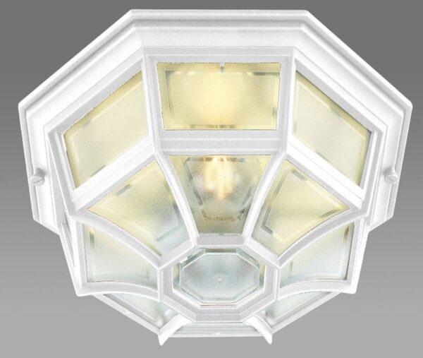 Norlys Latina 1 light flush mount outdoor porch lantern white IP44
