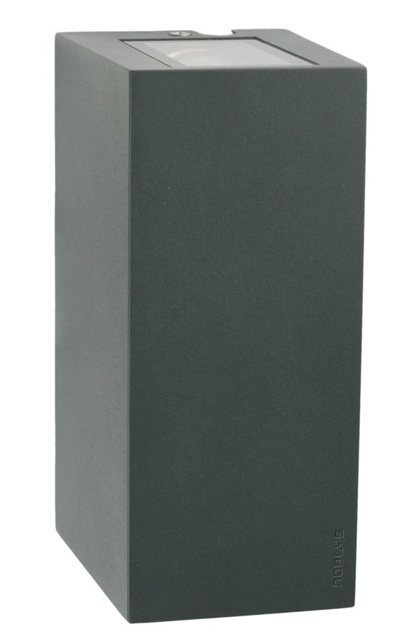 Norlys LILLEHAMMER AL 6w LED up / down outdoor wall light in graphite IP54