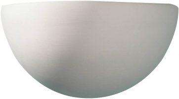 Dar Marino Classic Half Moon Paintable Ceramic Wall Washer