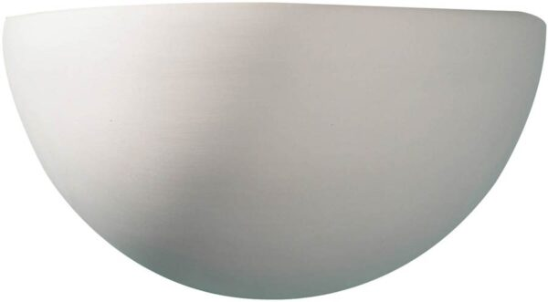 Dar Marino Classic Half Moon Paintable Ceramic Wall Washer