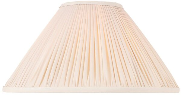 Matilda Oyster Pleated Faux Silk 14 Inch Table Lamp Shade