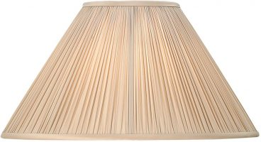 Matilda Oyster Pleated Faux Silk 20 Inch Table Lamp Shade