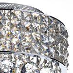 Dar Matrix 3 Light Flush Mount Crystal Ceiling Light Polished Chrome