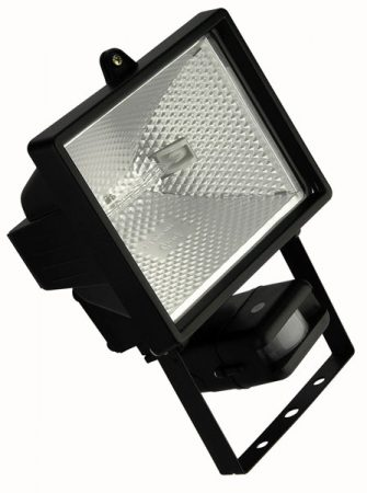 Black Finish Outdoor 500W PIR Floodlight