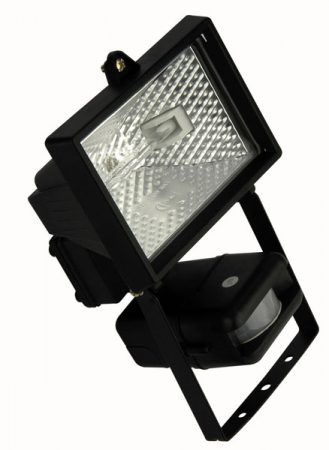 Black Finish Outdoor 150W PIR Floodlight