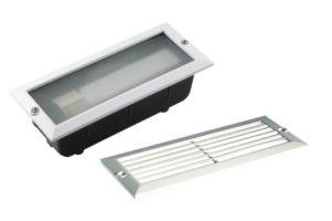 White Cast Aluminium Outdoor Brick Light
