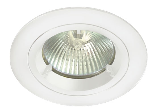 White Finish Low Voltage Cast Downlight