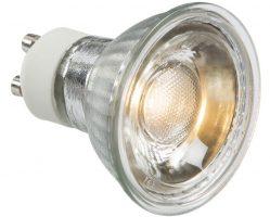 Warm White 5W GU10 COB LED Lamp 400 Lumens