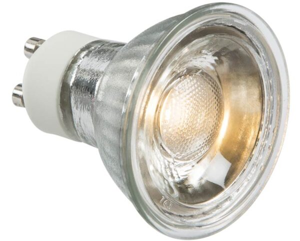 Warm White 5W GU10 COB LED Lamp 400 Lumens