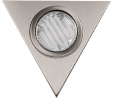 Low Energy Brushed Chrome Under Cabinet Triangle Light