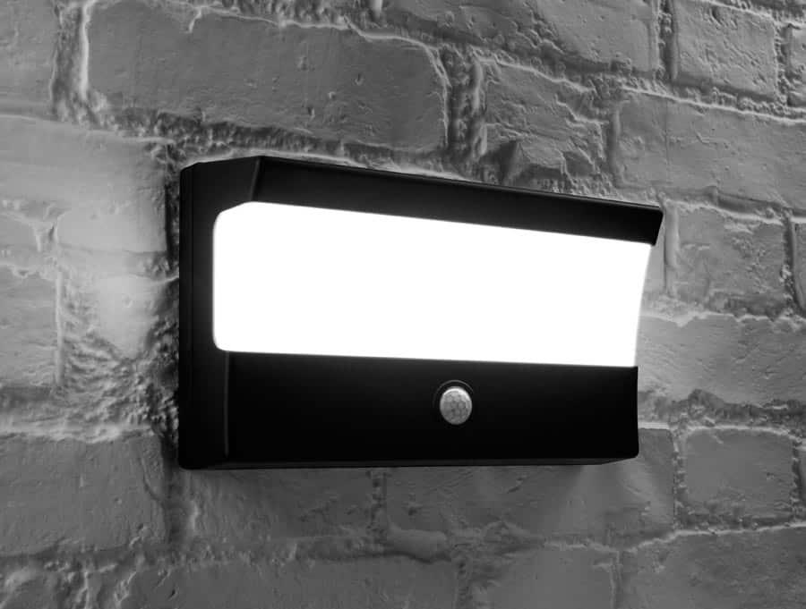 Dual Light Level Led Dusk Dawn Black Outdoor Pir Wall