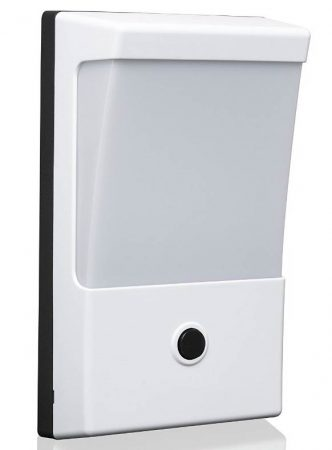 Dual Light Level LED Dusk Dawn White Outdoor PIR Wall Light Tall