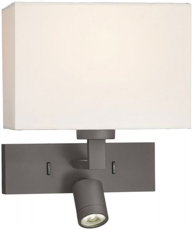 Dar Modena Bronze Switched Wall Light With LED Reading Lamp