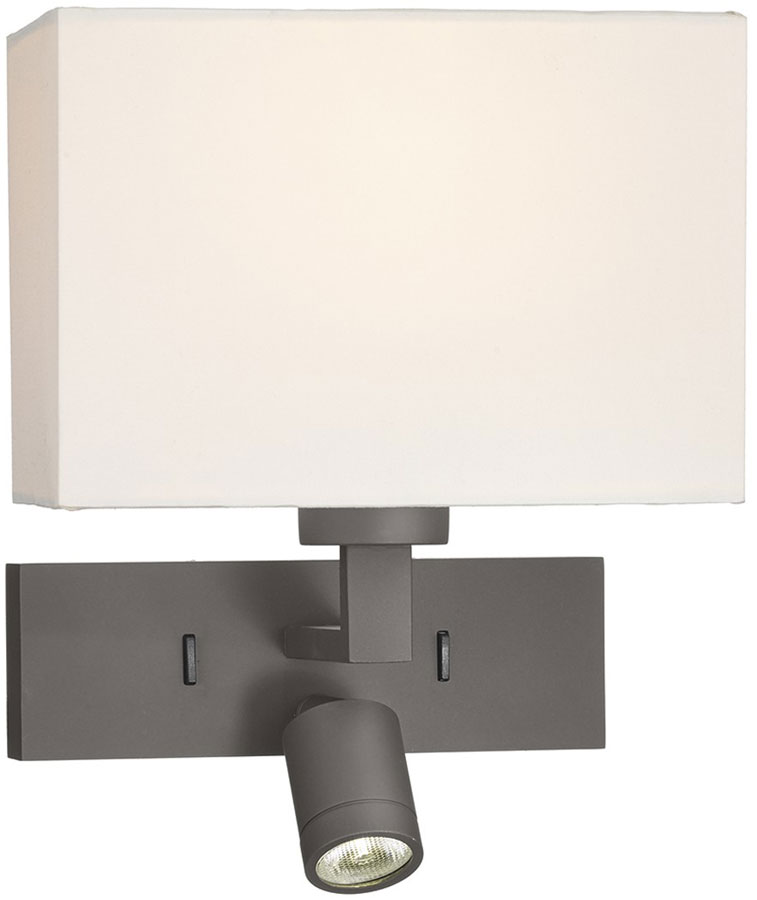 Dar Led Wall Lights : Dar Modena Bronze Switched Wall Light With LED Reading Lamp MOD7163L