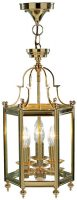 Dar Moorgate Traditional 3 Light Hanging Lantern Polished Brass