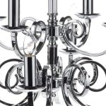 Dar Murray Large 12 Light Dual Mount Chandelier Polished Chrome