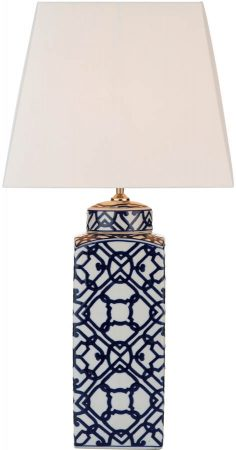 Dar Mystic Blue And White Ceramic Table Lamp Base Only