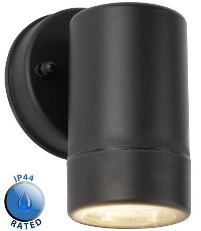 Mellor Rust Proof Outdoor Wall Down Spot Light Black IP44