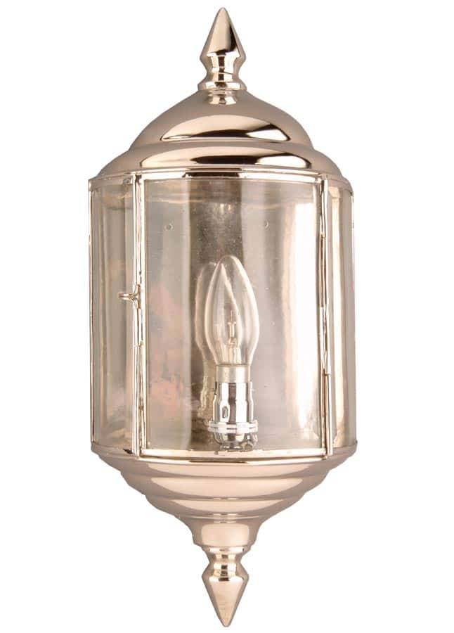 Wentworth Art Deco style outdoor passage lantern polished nickel