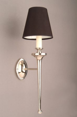 Grosvenor Nickel Plated Brass Edwardian Single Wall Light Made In Britain