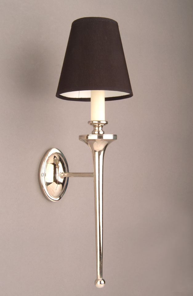 Wall Lights Nickel : Grosvenor Nickel Plated Brass Edwardian Single Wall Light N721-D6G