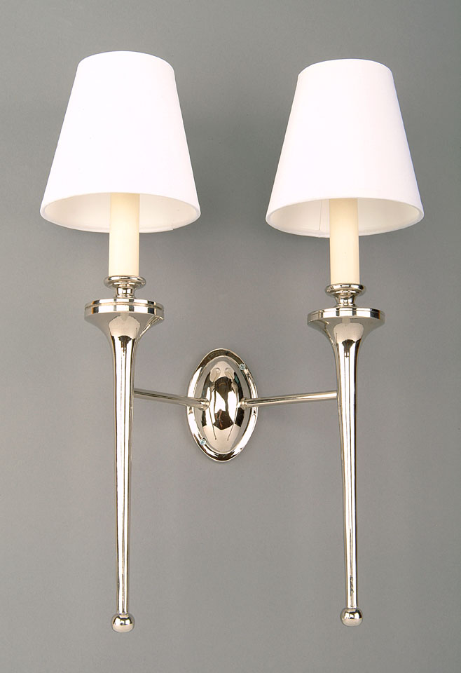 Grosvenor nickel plated brass edwardian twin wall light made in britain aloadofball Images