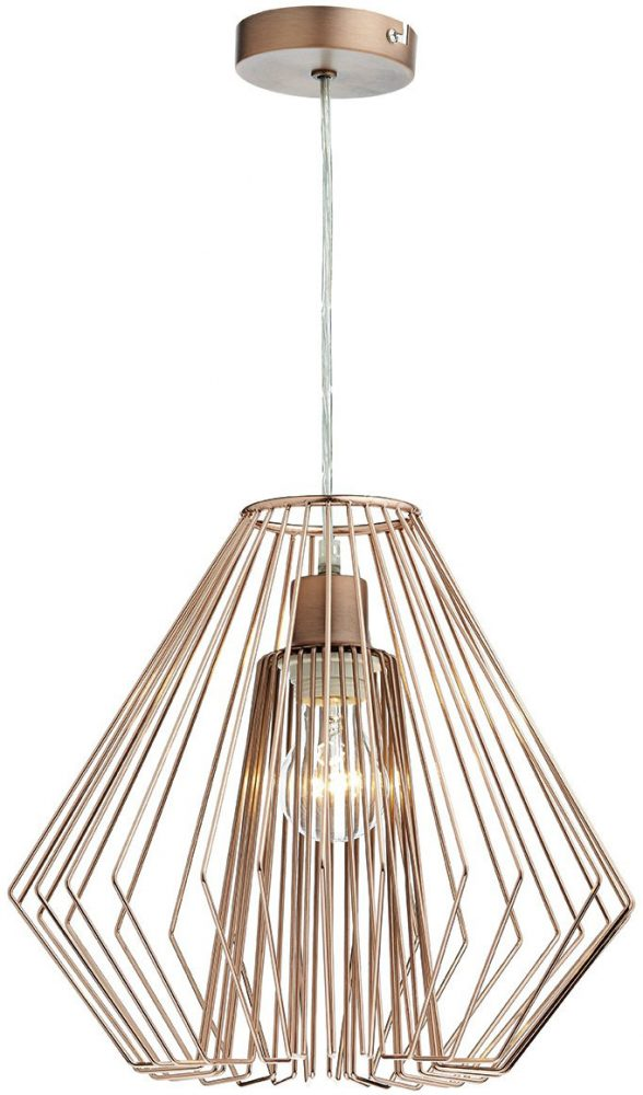 Dar Needle Modern Easy Fit Ceiling Pendant Shade Copper NEE6564