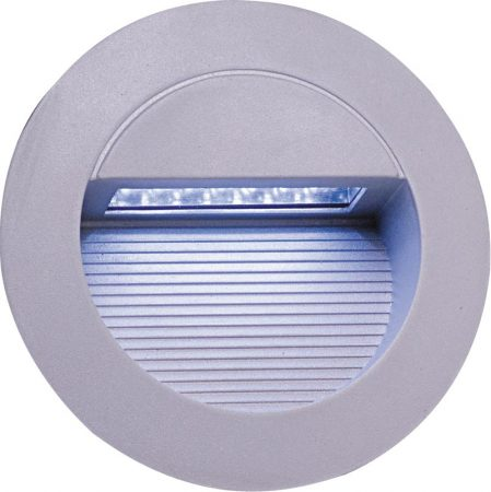 Round IP44 Recessed Outdoor LED Wall Light Grey
