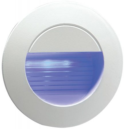 Blue LED Round Minature Recessed Outdoor Guide Light Grey IP54