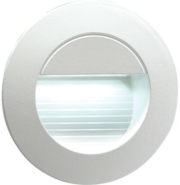 White LED round miniature recessed outdoor guide light in grey IP54