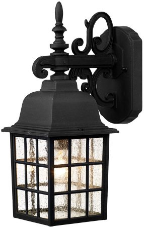 Dar Norfolk Coach House Downward Outdoor Wall Lantern Black