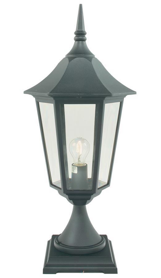 Norlys Valencia Grande Traditional Outdoor Pedestal Lantern Black IP54