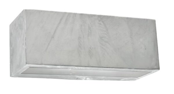 Norlys Asker Up & Down Outdoor Wall Light Box Galvanised IP54