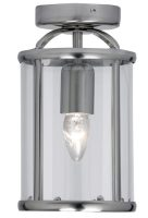 Fern Antique Chrome Flush 1 Light Ceiling Lantern