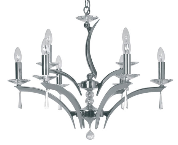 Wroxton Chrome Plated Cast Brass 9 Light Chandelier