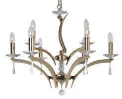 Wroxton Gold Plated Cast Brass 9 Light Chandelier