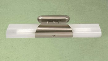 Small Satin Chrome Fluorescent Kitchen Light