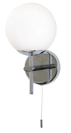 Mani Bathroom Opal Globe Chrome Wall Light