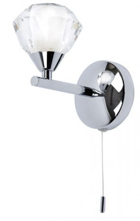 Meissa Chrome Switched Bathroom Wall Light