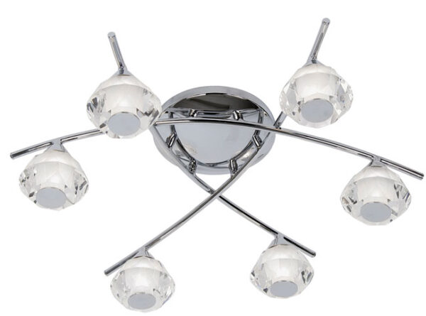 Meissa Chrome Bathroom 6 Light Ceiling Fitting