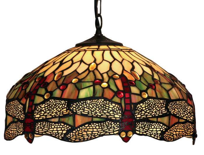 Dragonfly 400mm Tiffany Pendant Ceiling Light Ot 1485 16 P