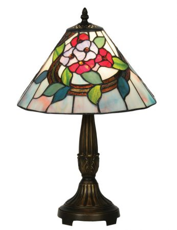 Belle Medium 300mm Floral Tiffany Table Lamp