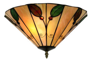 Flush Fitting 365mm Leaf Tiffany Ceiling Light