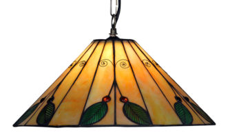 Large 420mm Leaf Tiffany Pendant Light