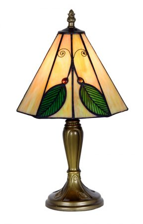 Small 205mm Leaf Tiffany Table Lamp