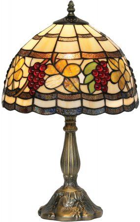 Rustic Grape Vine 310mm Tiffany Table Lamp