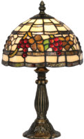 Rustic Grape Vine 200mm Small Tiffany Table Lamp