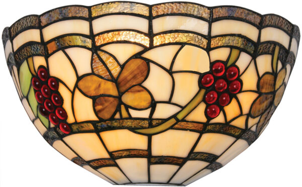 Rustic Grape Vine Tiffany Wall Washer Lamp